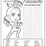 Girl Scout Daisy Green Petal Superhero Word Search | Prudence