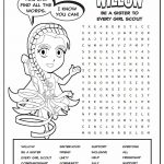 Girl Scout Daisy Violet Petal Superhero Word Search | Willow