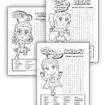 Superhero Girl Scout Law Word Search Pages