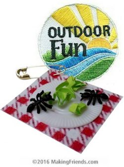 Picnic Girl Scout Fun Patch