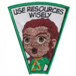Use Resources Wisely Superhero Patch