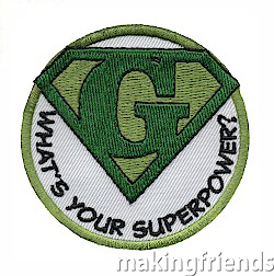 Every girl wants to be a super hero and with the patch, you can show your super hero pride! via @gsleader411