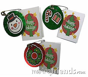 Mini Holiday Card Girl Scout Friendship SWAP Kit via @gsleader411