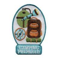 Girl Scout Camping Prepared Fun Patch