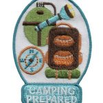 Girl Scout Camping Prepared Fun Patch