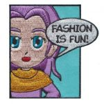 Fashion Girl Scout Fun Patch