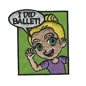 Ballet Girl Scout Fun Patch