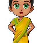 Superhero Serafina India International Paper Doll