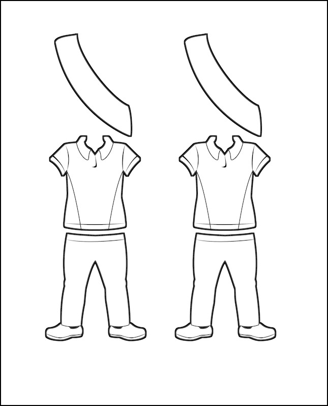 Superhero Freedom's Girl Guide Uniform for Australia Outline