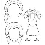 Superhero Paper Dolls | Delilah France Costume Outline