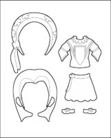 Superhero Delilah's Costume for France Outline