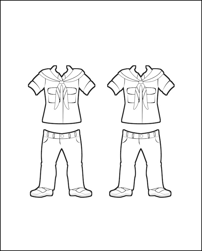 Superhero Willow's Girl Guide Uniform for Germany Outline