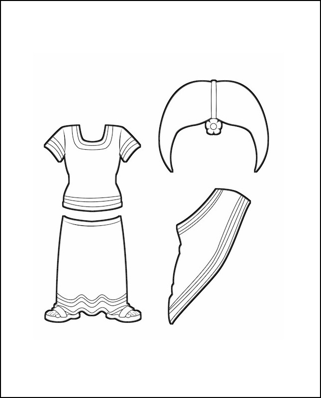 Superhero Serafina's Costume for India Outline