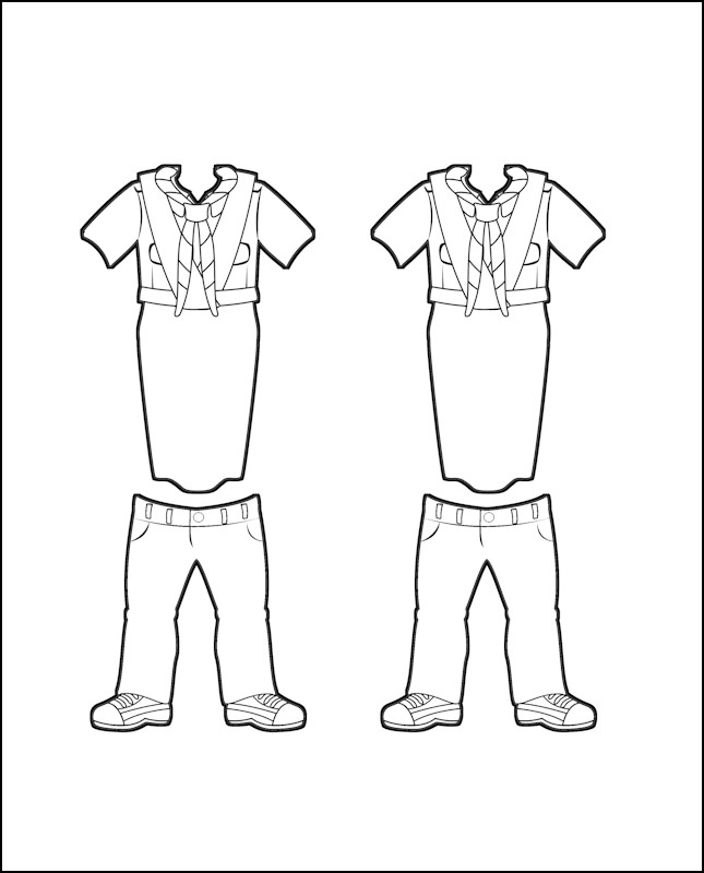 Superhero Serafina's Girl Guide Uniform for India Outline