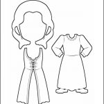 Superhero Paper Dolls | Justice Ireland Costume Outline