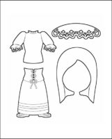 Superhero Harmony's Costume for Italy Outline