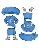 Superhero Charity's Girl Guide Uniform for Japan