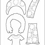 Superhero Paper Dolls | Prudence Madagascar Costume Outline