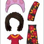 Superhero Paper Dolls | Prudence Madagascar Costume