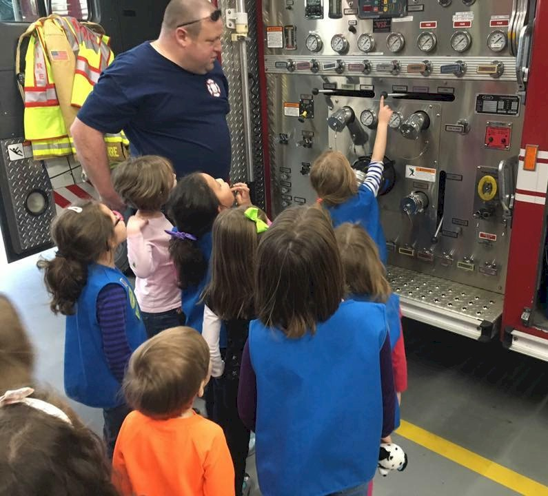 Girl Scout Fire House Tour