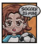 Soccer Girl Scout Fun Patch