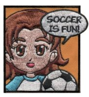 Superhero Soccer Fun Patch