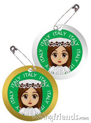 Italy International Costume Friendship Swap Kit. Superhero Harmony wears traditional clothes from Italy for these international crafts for swapping. Quick and easy to make. No scissors or glue needed. Kit makes 24. You'll find more fun ideas on our page Italy | Ideas for Thinking Day* including patches, crafts, passports and more.  via @gsleader411