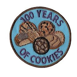 Girl Scout 100 Years of Cookies Fun Patch