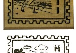 Girl Scout Thinking Day Haiti Rubber Stamp