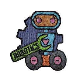 Girl Scout Robotics Fun Patch