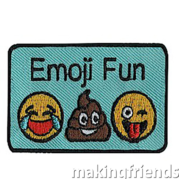 Emoji Patch.Most girls can probably have entire conversations with just emojis. Try a new twist on an old favorite. Have the girls say something nice about each other using only emojis. #emojifun #emojifunpatch #emoji #emojiconvo via @gsleader411
