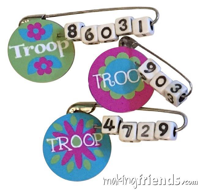 Girl Scout Troop Number Friendship SWAP via @gsleader411