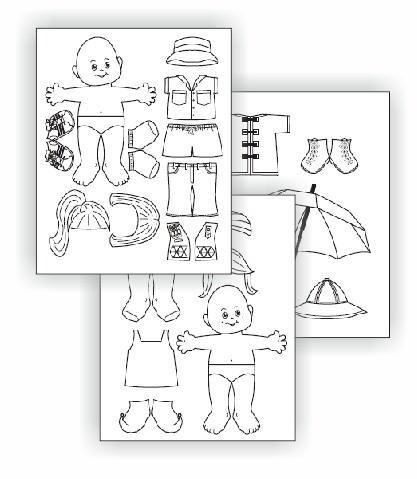 Water Journey Paper Dolls