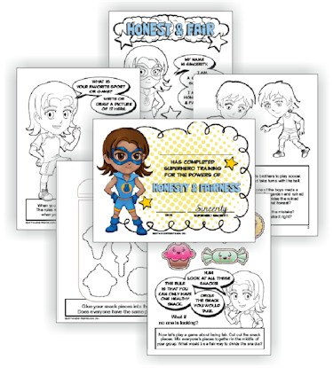 Superhero Daisy Girl Scout Light Blue Petal Download