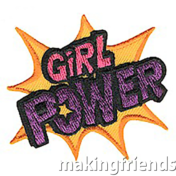 Remind your girls how great it is to be a girl! This patch is great for any level but especially for girls working on the Junior Agent of Change JOURNEY*. #makingfriends #girlpower #girlpowerpatch #girlscoutpatch via @gsleader411