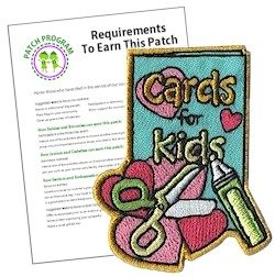 Cards for Kids Girl Scout Fun Patch
