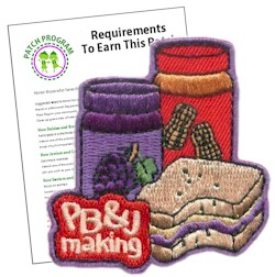 Scout Peanut Butter and Jelly Fun Patch