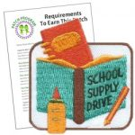 Girl Scout School Supply Drive Fun Patch
