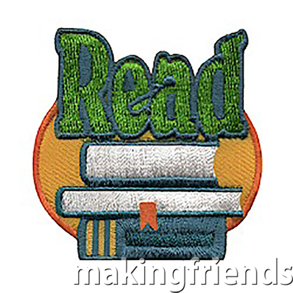 The Read Patch from MakingFriends®.com is perfect for troops that do book swaps or other events to promote reading. Makes a great reminder for your community service project if it focuses on literacy. Incorporate this patch while working on your Brownie A World of Girls JOURNEY*. This patch is included in the Story Adventure Badge In A Bag® kit from MakingFriends®.com. #makingfriends #reading #readpatch #read via @gsleader411