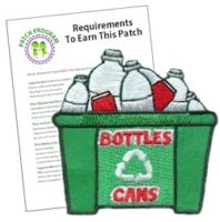 Girl Scout Bottles and Cans Fun Patch