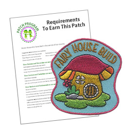 Girl Scout Fairy House Patch Program