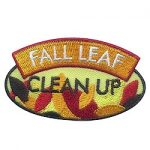 Girl Scout Fall Leaf Clean Up Patch