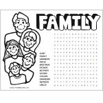 Printable Family Word Search