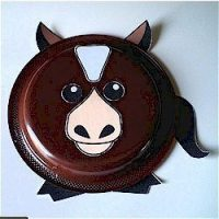 paper plate horse craft, girl scouts crafts