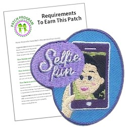 Selfie Patch Program® from MakingFriends®.com. Planning a selfie scavenger hunt for your troop? The selfie patch makes a great addition to their vests. Print our challenge worksheet for fun activities for every girls of every age! via @gsleader411