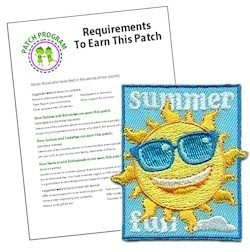 Girl Scout Summer Fun Patch