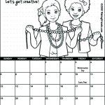 Girl Scout August Calendar