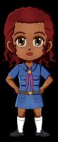 Brazil Girl Guide Uniform for Thinking Day