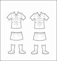Brazil Girl Guide Uniform for Thinking Day Outline