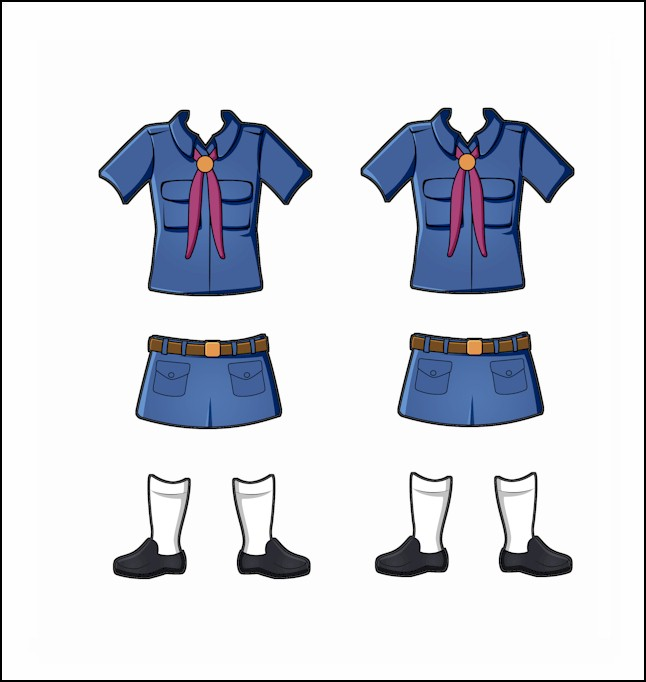 Superhero Paper Dolls | Prudence Brazil Girl Guide Uniform